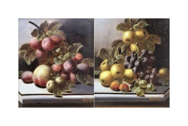 PAIR OF OILS – Still Life of Fruit