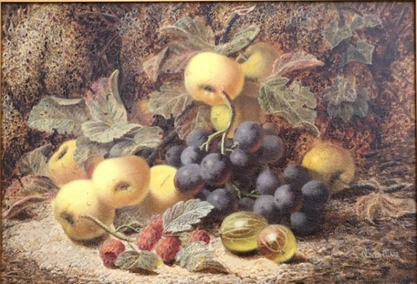 Still Life of Fruit on a Mossy Bank