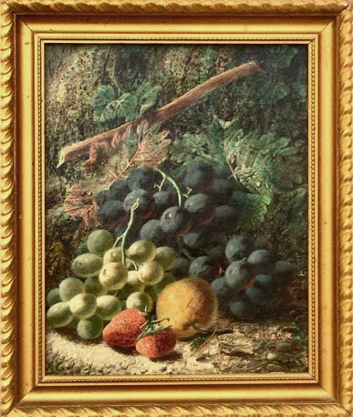 Still Life of Grapes, Apple and Strawberries
