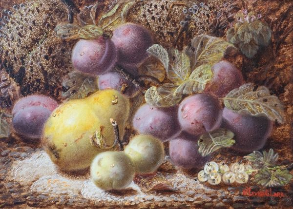 Still Life of Plums and Pear